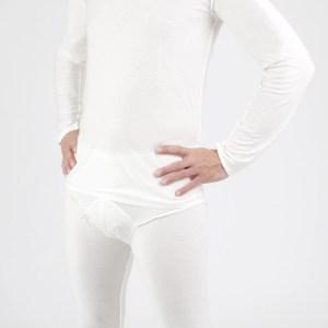 man wearing dermacura long sleeve shirt