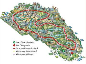 Die Streckenführung des 4. Kölner Zoolaufs 2