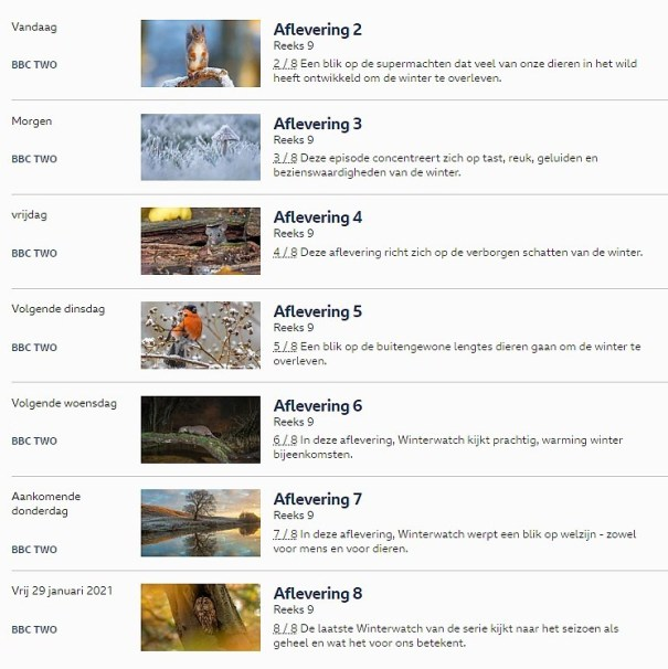 programma BBC springwatch 2021