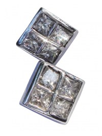 Square Diamond Stud Earrings - earrings - Fine Jewellery