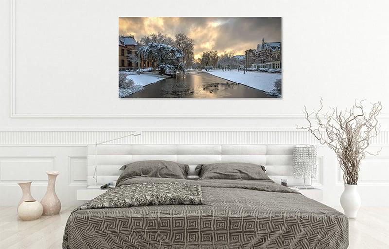 Wanddecoratie Rotterdam in je slaapkamer  De Rooij Fotografie