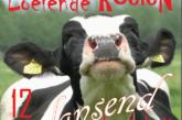 Loeiende koeien dansend de stal uit