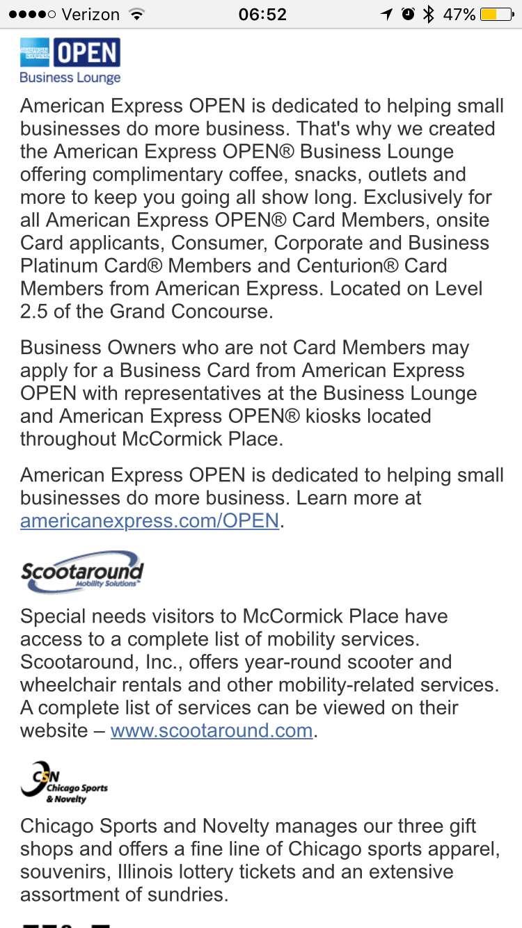 Any amex business card or personal platinum for mccormick place amex the lounge is nice there are free snack foods and a quiet space to relax load up on coffee and snacks before class no lines at all colourmoves