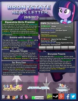 BronyState Newsletter 8/29/13