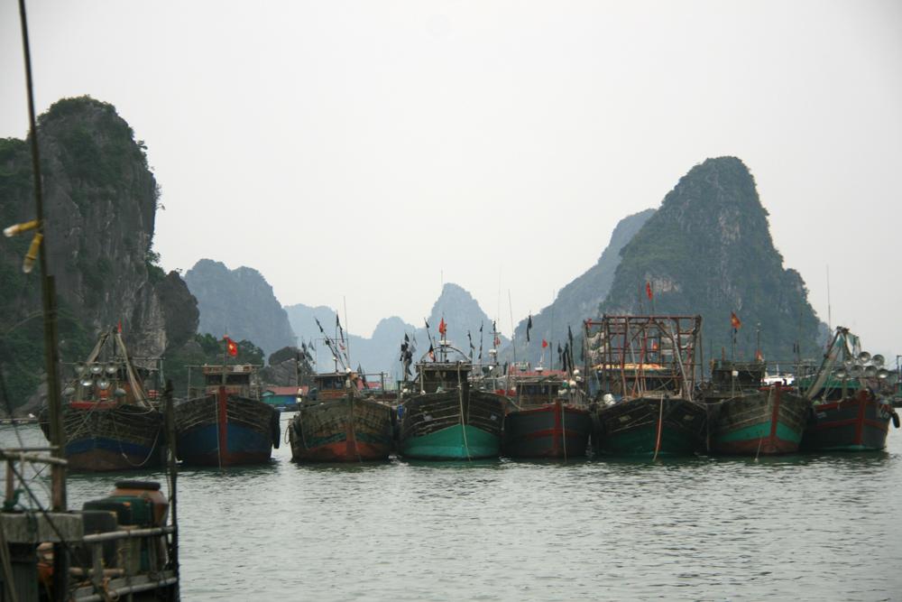Le port de Cai Rong et la baie de Tu Long