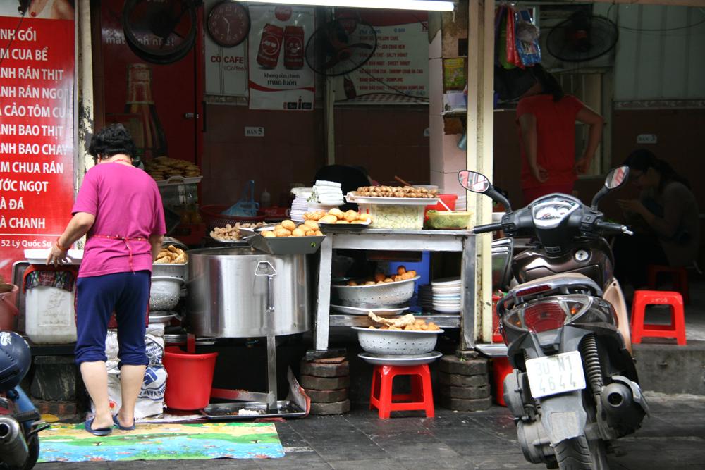 Nourriture de rue à Hanoï