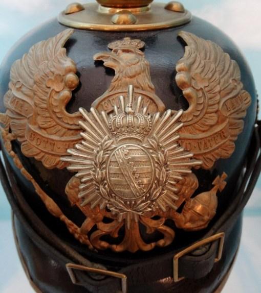 SAXE-COBURG-GOTHA - PICKELHAUBE - ENLISTED MAN - 6. THÜRINGISCHES INFANTERIE-REGIMENT Nr 95 - Imperial German Military Antiques Sale