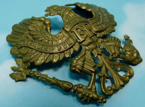 WAPPEN - PRUSSIA - FOR  TSCHAKO - ENLISTED MAN - Imperial German Military Antiques Sale