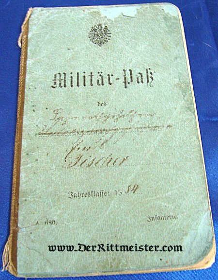 MILITÄRPAß FOR A MAN IN INFANTERIE-REGIMENT Nr 49 PRUSSIA - Imperial German Military Antiques Sale