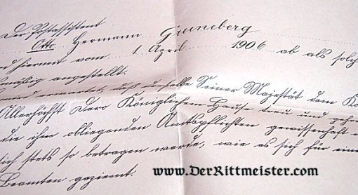 ASSORTED DOCUMENTS - MILITÄRPAß - ACTING OFFICER OTTO GRUNEBERG - Imperial German Military Antiques Sale