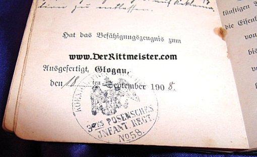 MILITÄRPAß - INFANTERIE-REGIMENT Nr 58 - Imperial German Military Antiques Sale