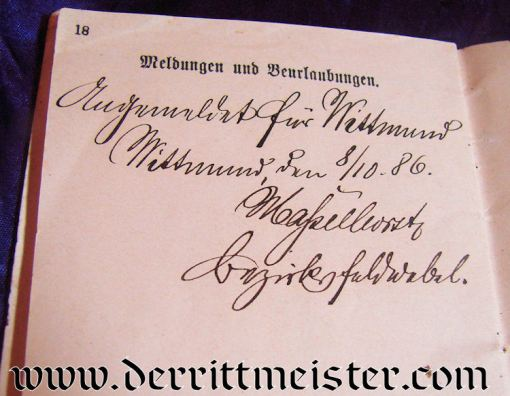 MINI GROUP - MILITÄRPAß - DOCUMENT - PHOTOGRAPH - Imperial German Military Antiques Sale