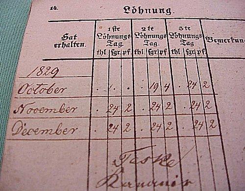 ABRECHNUNGS-BUCH - Imperial German Military Antiques Sale