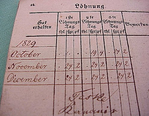PRUSSIA - PAY BOOK - ABRECHNUNGS-BUCH - Imperial German Military Antiques Sale