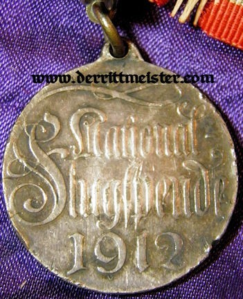 1912 FLUGSPENDE MEDAL - Imperial German Military Antiques Sale
