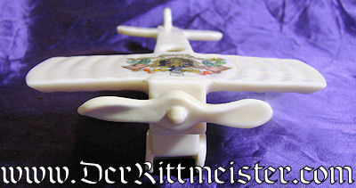 PORCELAIN FIGURINE - BRITISH AIRPLANE - Imperial German Military Antiques Sale