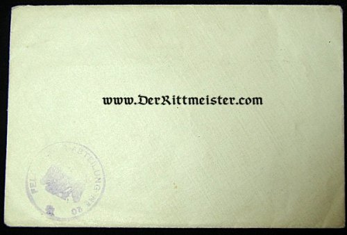 ENVELOPE WITH UNIT STAMPS FOR FELD-FLIEGER-ABTEILUNG Nr 20 - Imperial German Military Antiques Sale