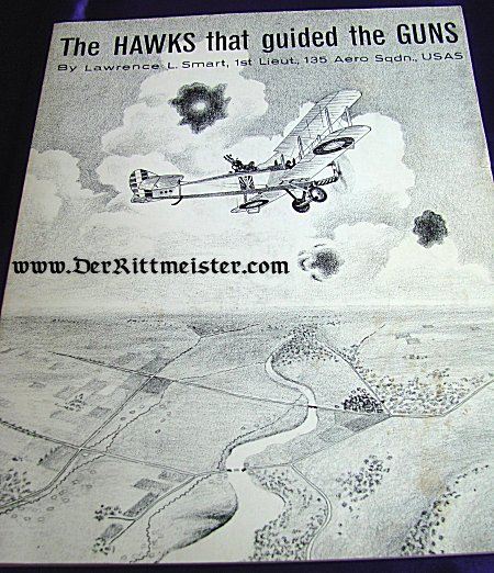 THE HAWKS THAT GUIDED THE GUNS by LAWRENCE L. SMART - Imperial German Military Antiques Sale