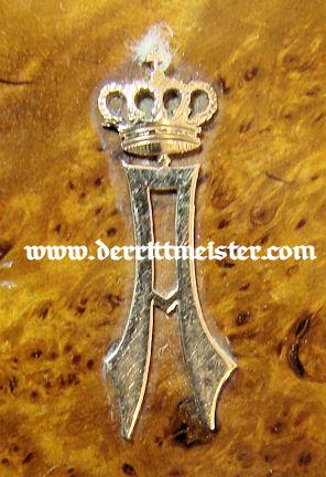 CIGARETTE CASE - PRINZ ADALBERT von PREUßEN - Imperial German Military Antiques Sale