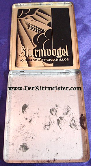 GERMANY - CIGARILLO BOX - ZEPPELIN THEME - Imperial German Military Antiques Sale