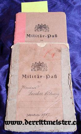 BAVARIA - MILITÄRPAß - LUFTSCHIFFER ERSATZ ABTEILUNG - Imperial German Military Antiques Sale