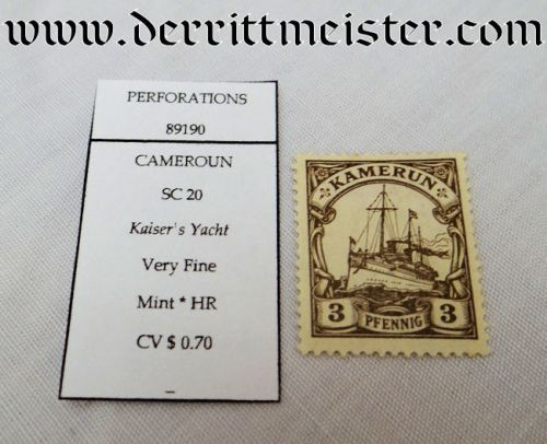 STAMP - COLONIAL GERMAN CAMEROON - Imperial German Military Antiques Sale