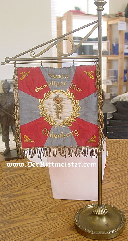 OLDENBURG - BANNER - VETERANS ASSOCIATION - INFANTRY-REGIMENT Nr 91 - Imperial German Military Antiques Sale
