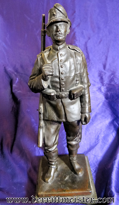 SAXONY - STATUE - SCHÜTZEN-REGIMENT Nr 108 - Imperial German Military Antiques Sale