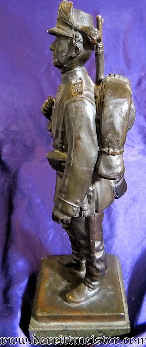 SOLDIER'S STATUE - SCHÜTZEN-REGIMENT Nr 108 - SAXONY - Imperial German Military Antiques Sale