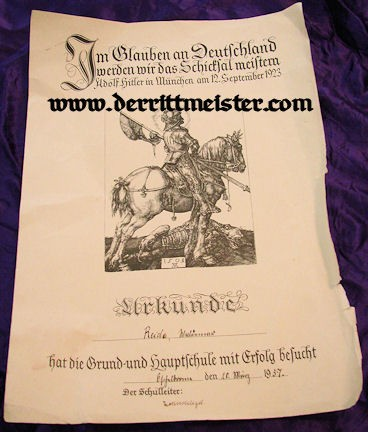 UNKNOWN HITLER-ISSUED DOCUMENT 1923/1937 - Imperial German Military Antiques Sale