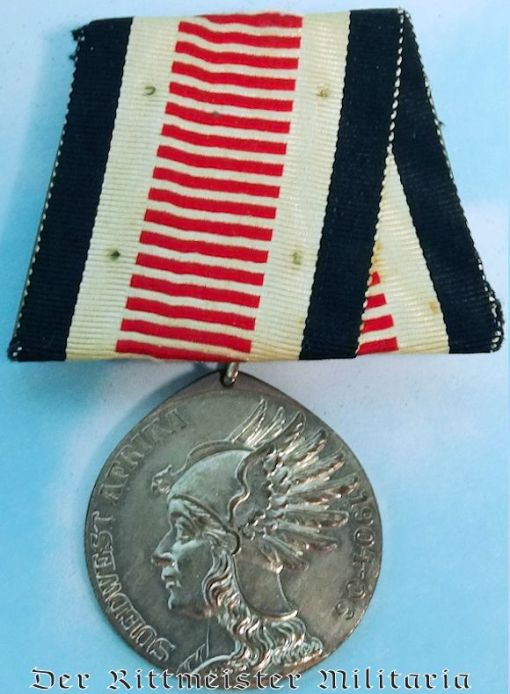 MEDAL BAR - ONE PLACE - SOUTHWEST AFRICA CAMPAIGN MEDAL FOR NON COMBATANTS - Imperial German Military Antiques Sale