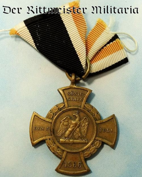 1866 AUSTRO-PRUSSIAN WAR KÖNIGGRÄTZ CROSS - Imperial German Military Antiques Sale