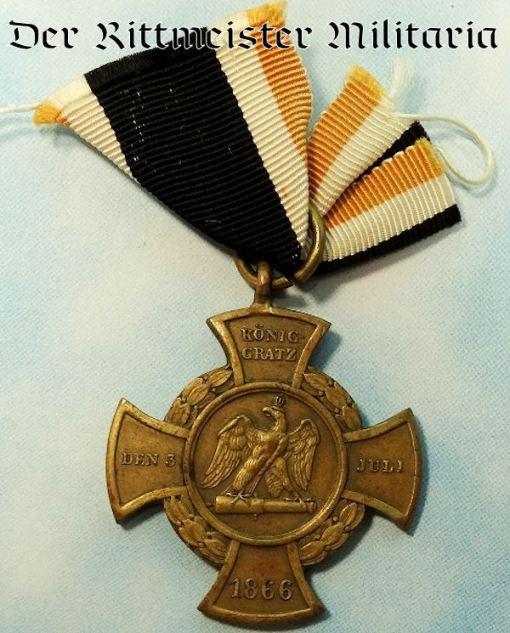 PRUSSIA - KÖNIGGRÄTZ CROSS - 1866 - AUSTRO-PRUSSIAN WAR - Imperial German Military Antiques Sale