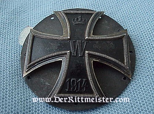 IRON CROSS - 1914 - 1st CLASS - THREE PIECE SCREWBACK FOR KÜRAß - Imperial German Military Antiques Sale