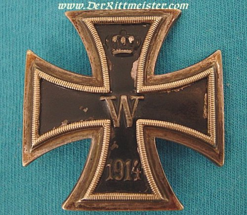 IRON CROSS - 1914 - 1st CLASS LOW VAULTED - Imperial German Military Antiques Sale