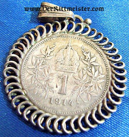 PATRIOTIC PENDANT - AUSTRIAN - KAISER FRANZ JOSEF - Imperial German Military Antiques Sale