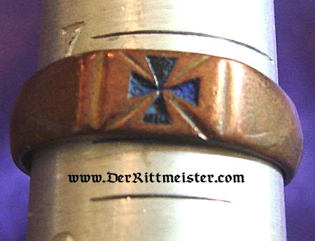 PATRIOTIC BLACK IRON CROSS RING