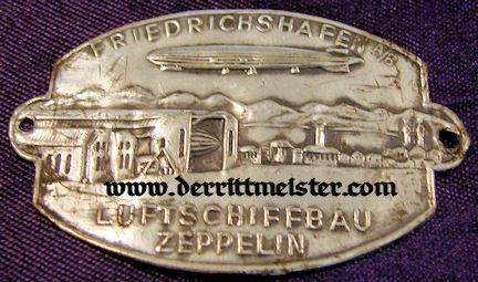 TINNIE - ZEPPELIN - FRIEDRICHSHAFEN - Imperial German Military Antiques Sale