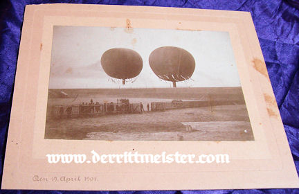 MATTED PHOTOGRAPH - TWO BALLOONS - PRE WW I - Imperial German Military Antiques Sale
