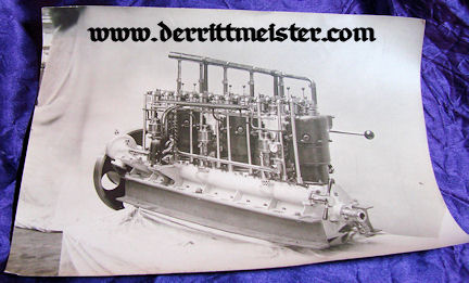 GERMANY - PHOTOGRAPH - ZEPPELIN ENGINE- LARGE-FORMAT - Imperial German Military Antiques Sale