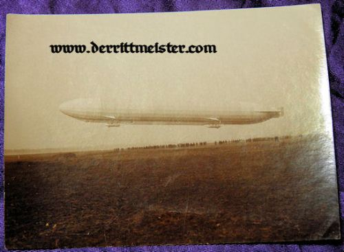 ORIGINAL PHOTOGRAPH - PRE WW I ZEPPELIN SACHSEN - Imperial German Military Antiques Sale