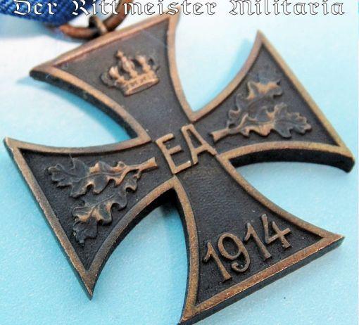 1914 KRIEGSVERDIENSTKREUZ 2nd CLASS WITH COMBATANTS RIBBON - BRAUNSCHWEIG - Imperial German Military Antiques Sale