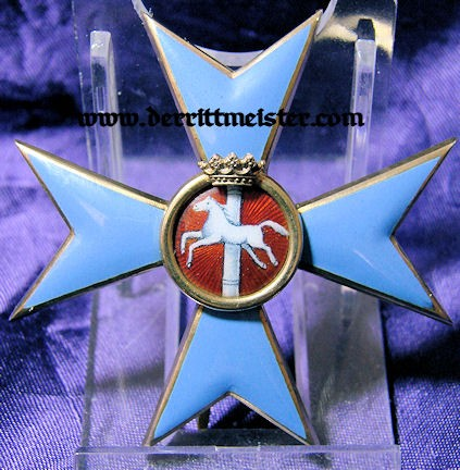 ORDER - HENRY LION OFFICER'S CROSS - BRAUNSCHWEIG - Imperial German Military Antiques Sale