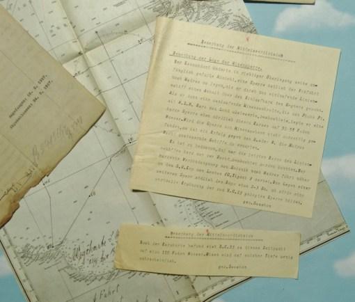 U-BOOT UC-23'S COMBAT PATROL REPORT - OBERLEUTNANT zur SEE JOHANNES KIRSCHNER COMMANDING - Imperial German Military Antiques Sale