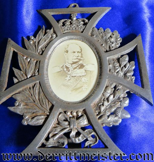 KAISER WILHELM I PHOTOGRAPH IN PATRIOTIC FRAME - Imperial German Military Antiques Sale