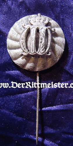 KAISER WILHELM II CROWNED CYPHER STICKPIN - Imperial German Military Antiques Sale