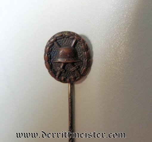 BLACK ARMY WOUND BADGE STICKPIN - Imperial German Military Antiques Sale