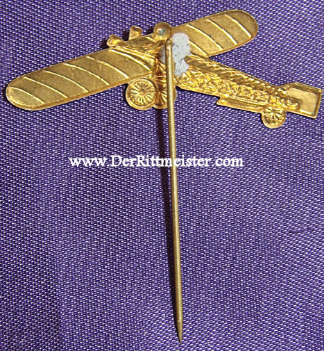 STICKPIN - TAUBE AIRPLANE - Imperial German Military Antiques Sale