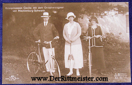 POSTCARD - CROWN PRINCESS - GERMANY - BROTHER - GRAND DUKE - MECKLENBURG-SCHWERIN - WIFE - Imperial German Military Antiques Sale