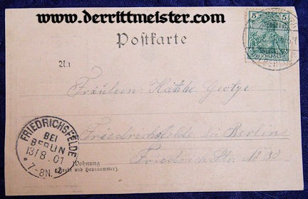 MEMORIAL POSTCARD FOR KAISER FRIEDRICH III'S WIFE KAISERIN VICTORIA - Imperial German Military Antiques Sale